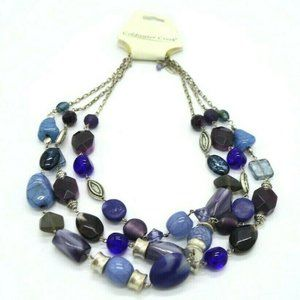 Coldwater Creek Bowie Blue Purple Acrylic Bead